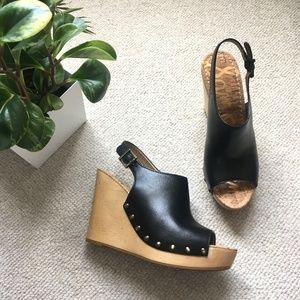 Sam Edelman 'Camilla' peep-toe mule platform wedge